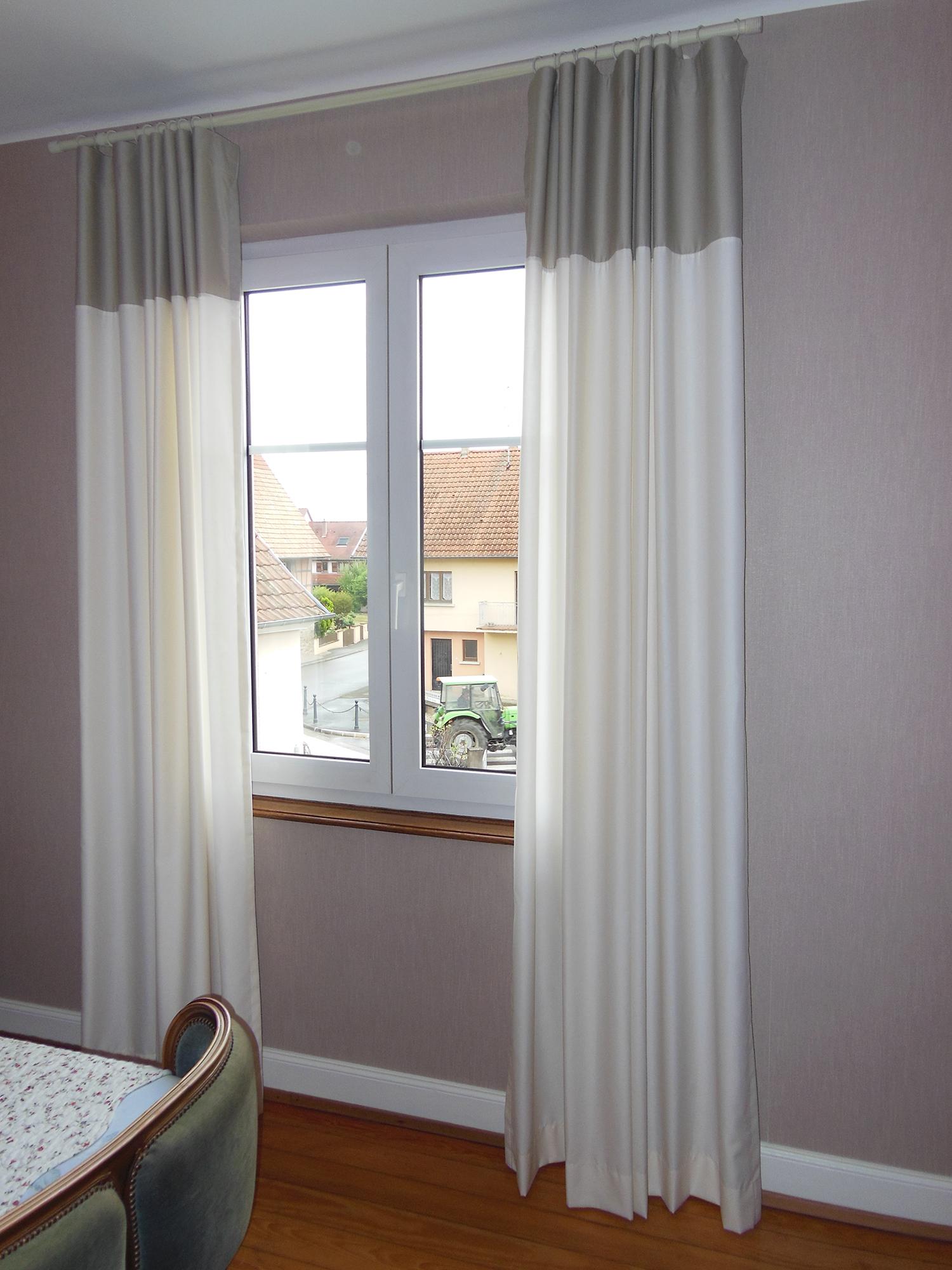 Double rideau bicolore à Nordhouse