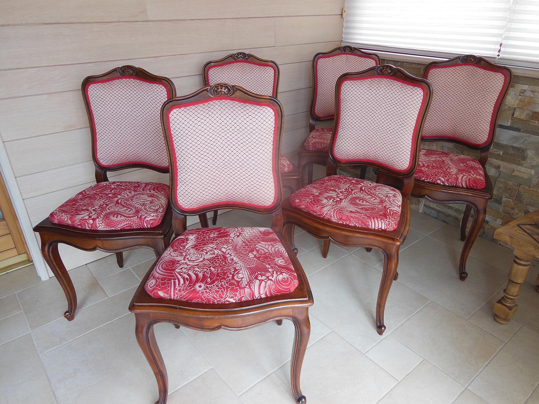 Rénovation complète de chaises en tissu Jean Paul Gaultier
