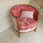 Rénovation d'un fauteuil tonneau