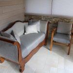 Canapé ancien avec son fauteuil relooké